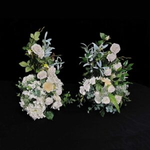 Decorative white floral for stand