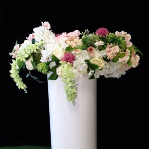 pink floral for plinth cake stand