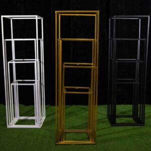 metal plinth stands for event