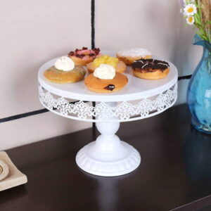 white cake stand for wedding hire
