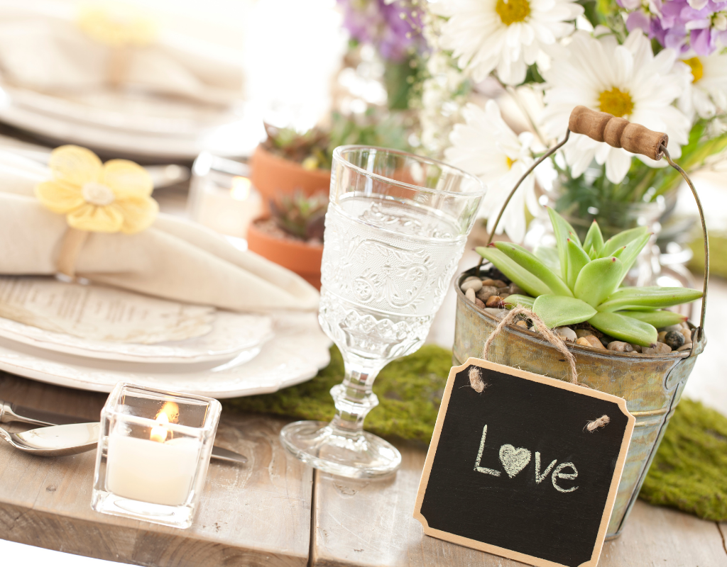 personalised centrepieces